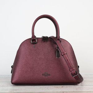 NWT Coach Crossgrain Leather Katy Satchel